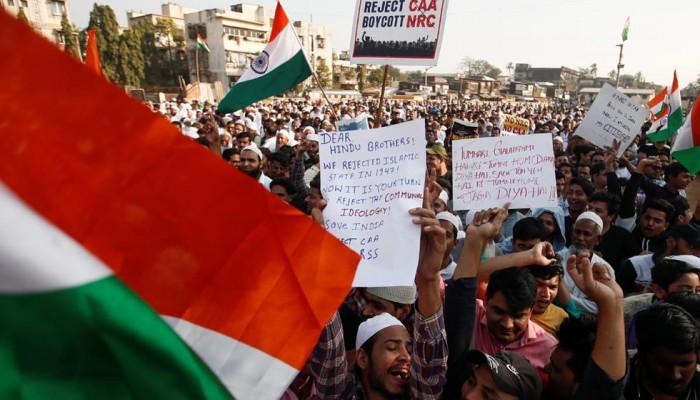 اعتصامات كبيرة للمسلمين في الهند ضد قانون المواطنة