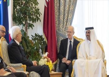 أمير قطر ورئيس إيطاليا يبحثان تطورات الأحداث بالمنطقة