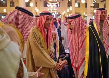 الملك سلمان يتقدم صلاة الجنازة على ابن عمه الأمير بندر (صور)