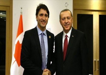 أردوغان وترودو يبحثان العلاقات الثنائية والقضايا الإقليمية