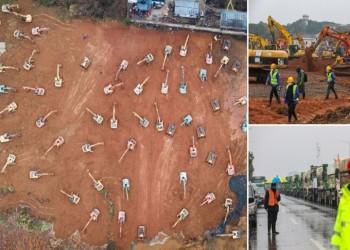 في 6 أيام .. الصين تبنى مستشفى بسعة ألف سرير لمواجهة كورونا