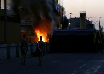 مروحيات تجلي مصابي السفارة الأمريكية في بغداد