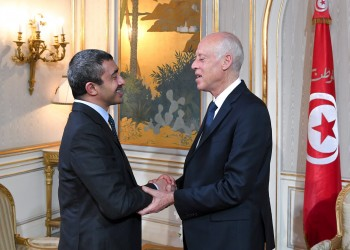 الرئيس التونسي ووزير خارجية الإمارات يبحثان الأزمة الليبية