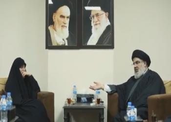 نصرالله يلتقي ابنة قاسم سليماني.. وناشطون يحتفون (فيديو)
