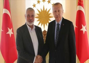بعد إعلان صفقة القرن.. أردوغان يلتقي هنية في إسطنبول