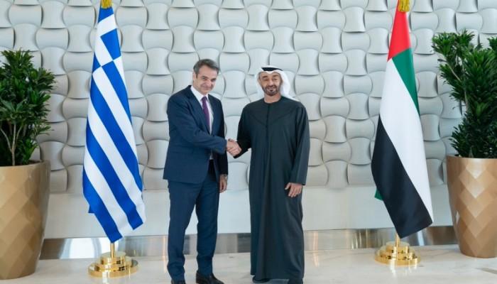 بن زايد ورئيس وزراء اليونان يبحثان أزمتي ليبيا وشرق المتوسط