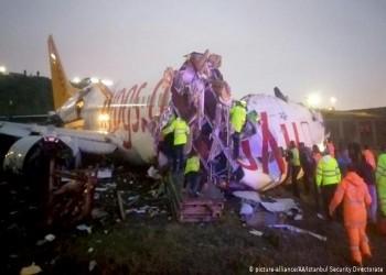 تركيا: قتيل و157 مصابا في حادث طائرة مطار صبيحة