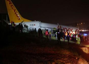 ارتفاع ضحايا انشطار طائرة إسطنبول إلى 3 وإصابة 179
