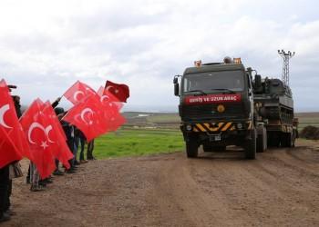 رتل عسكري تركي ضخم يدخل إلى إدلب شمالي سوريا