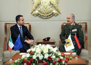 حفتر يستقبل وزير خارجية إيطاليا في بنغازي