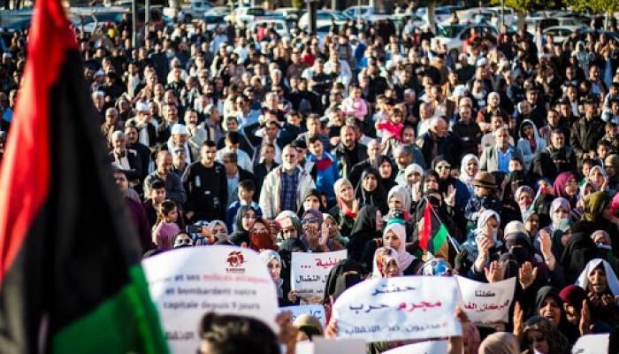 ليبيا.. مظاهرات في طرابلس ومصراتة تندد بحفتر والإمارات ومصر