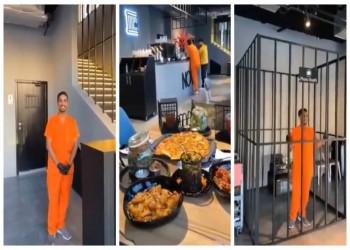 مطعم في جدة السعودية على هيئة سجن (فيديو)