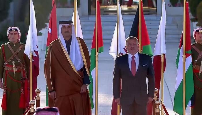 أمير قطر يصل إلى الأردن في زيارة أولى منذ الأزمة الخليجية