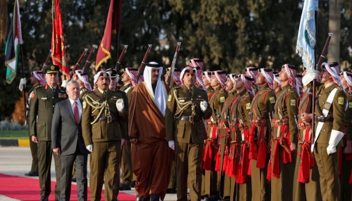 اتفاق قطري أردني على تعزيز التعاون وإقامة دولة فلسطينية مستقلة