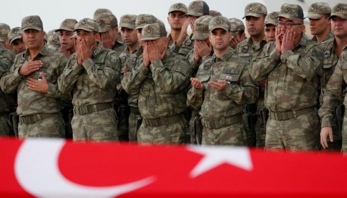 مقتل عشرات الجنود الأتراك بريف إدلب.. واجتماع أمني لأردوغان