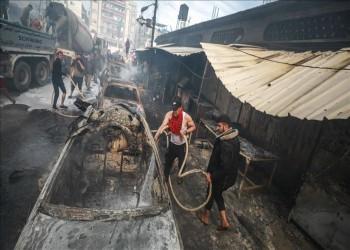 حريق النصيرات في غزة.. 9 قتلى وصدمة وألم