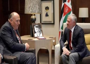السيسي يبعث وزير خارجيته برسالة إلى ملك الأردن