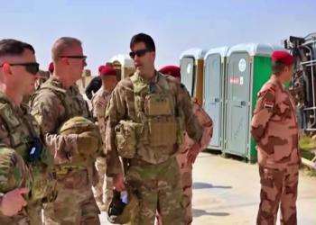 انسحاب القوات الأمريكية من قاعدة القائم بالحدود العراقية السورية