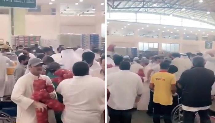 تكدس على شراء البصل في الكويت يثير المخاوف من عدوى كورونا (فيديو)