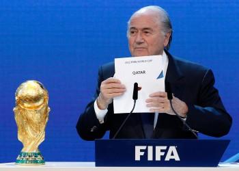 بلاتر: التدخل السياسي وليست الرشاوي وراء منح قطر مونديال 2022