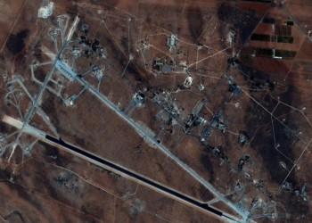 صور بالأقمار الصناعية تكشف أضرار قصف في قاعدة الشعيرات السورية