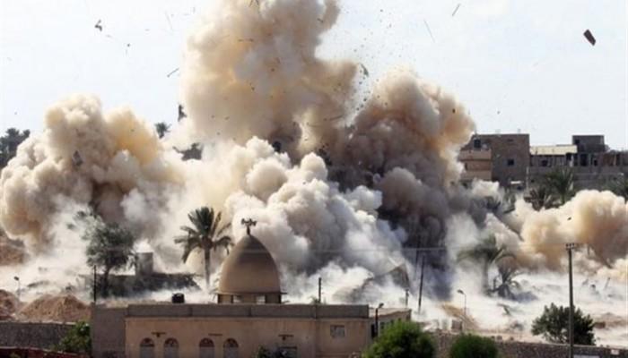 الجيش المصري يواصل القصف المدفعي والجوي على سيناء