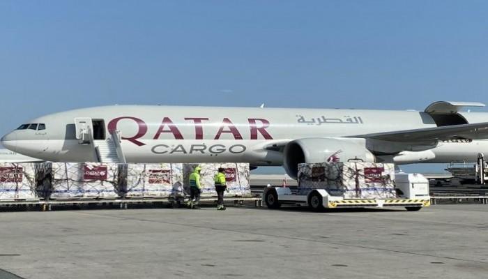 قطر ترسل شحنة مساعدات طبية ثالثة إلى إيران