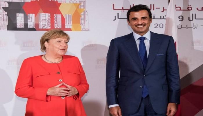 تميم وميركل يبحثان جائحة كورونا والأزمة الليبية
