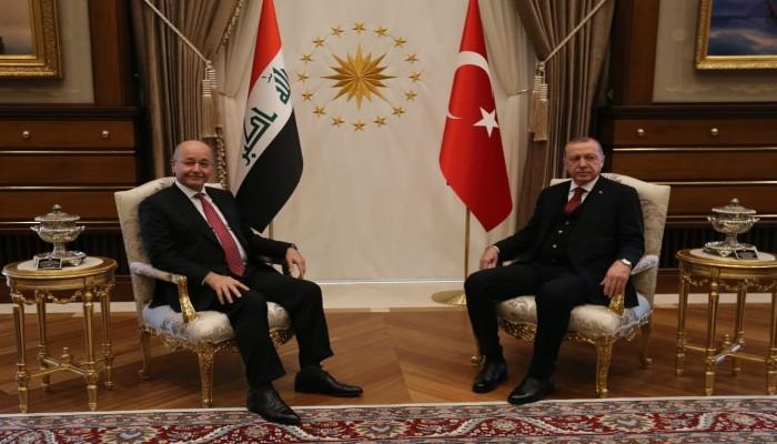 أردوغان وبرهم صالح يبحثان كورونا والعلاقات بين البلدين