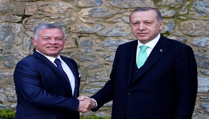 أردوغان وعبدالله الثاني يتبادلان التهاني بعيد الفطر