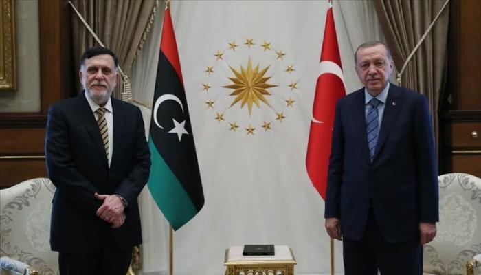 بدء اجتماع أردوغان والسراج في أنقرة لتقييم مستجدات الأزمة الليبية