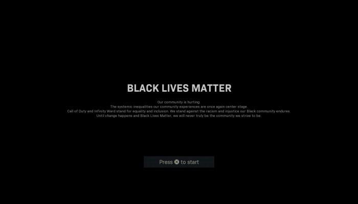 """""""حياة السود مهمة"""".. رسالة تضامن من لعبة كول أوف ديوتي"""
