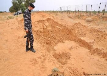 صور لمقابر جماعية في ترهونة بعد انسحاب قوات حفتر
