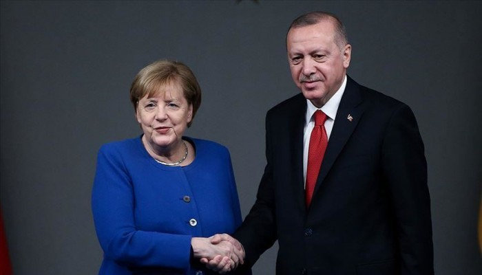 أردوغان وميركل يبحثان تطورات ليبيا وشرق المتوسط