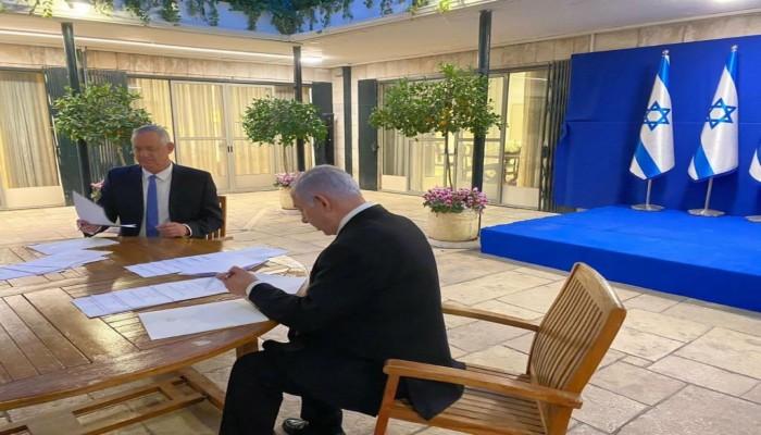 مسؤول إسرائيلي: نتنياهو عرض على جانتس 4 سيناريوهات لضم الضفة