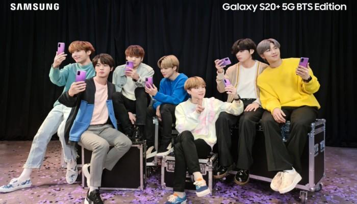 سامسونج تغازل عشاق فرقة BTS الكورية بنسخة خاصة