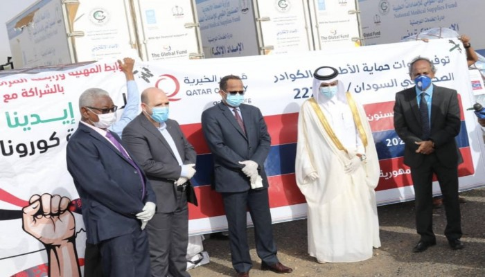 قطر ترسل مساعدات طبية إلى السودان (صور)