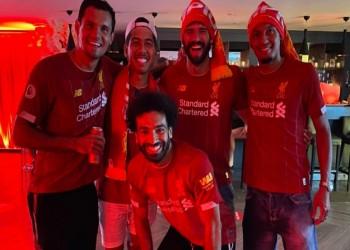 محمد صلاح يشكر جمهوره بعد تتويج ليفربول بالدوري الإنجليزي