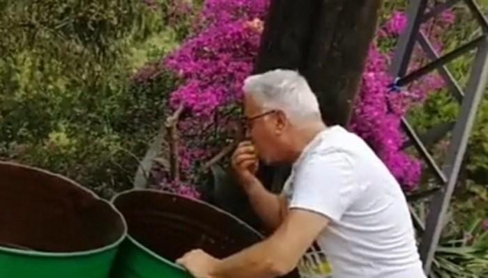 انتقادا لأوضاع بلاده.. ممثل لبناني شهير يأكل من القمامة
