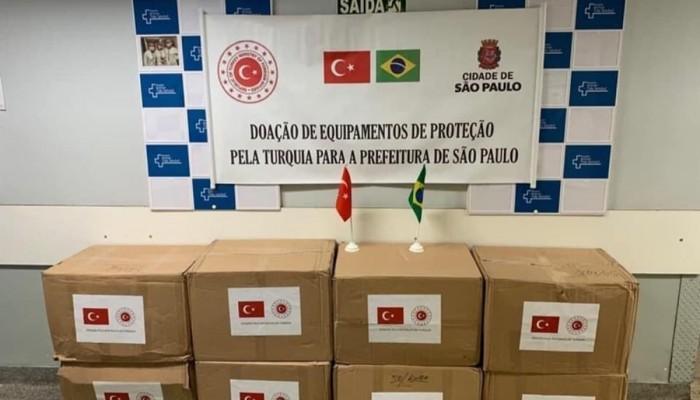 مساعدات طبية تركية إلى البرازيل لمكافحة كورونا