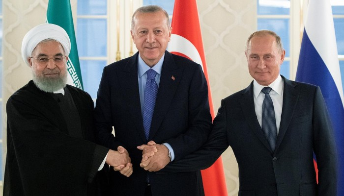 قمة ثلاثية بين أردوغان وبوتين وروحاني حول سوريا الأربعاء