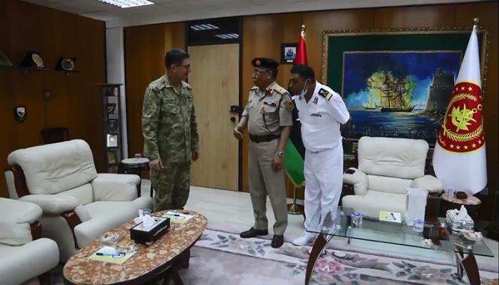 قائد القوات البحرية التركية يلتقي نظيره بالوفاق الليبية في طرابلس