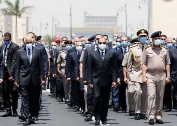السيسي يتقدم جنازة وزير الإنتاج الحربي المصري