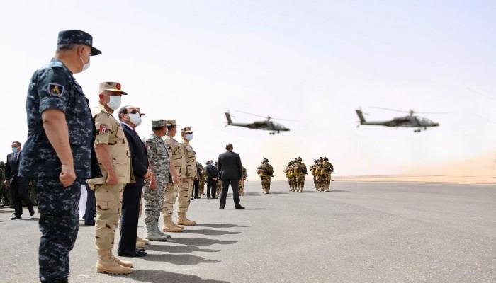 الجيش المصري يرد على تركيا بمناورة عسكرية على حدود ليبيا