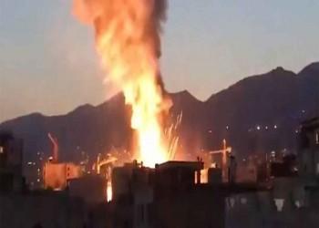 حريق في شركة كيمياويات جنوب غربي إيران