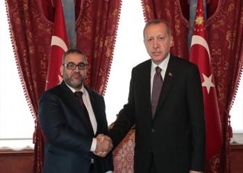 أردوغان يهنئ المشري بإعادة انتخابه رئيسا للمجلس الأعلى للدولة الليبي
