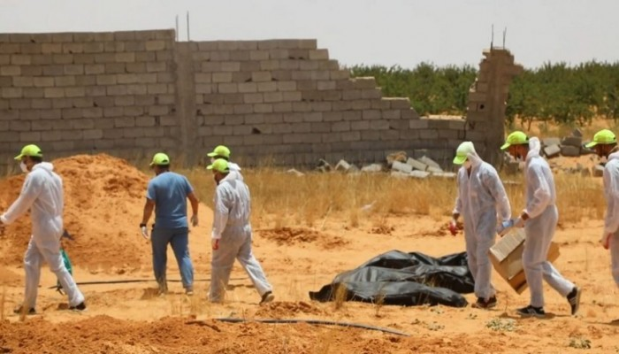 انتشال 225 جثة ورفات وأشلاء من طرابلس وترهونة