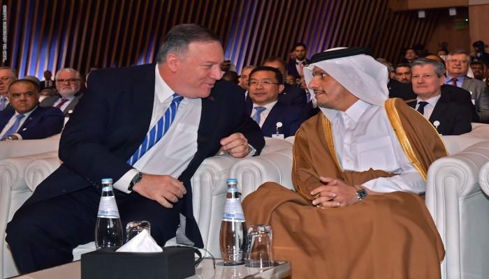 وزير خارجية قطر وبومبيو يناقشان وحدة الخليج والتهديدات الإقليمية