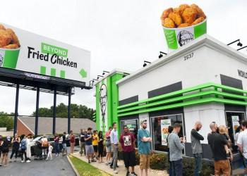 دجاج نباتي في كنتاكي بأمريكا الأسبوع المقبل