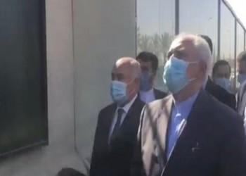 ظريف يزور مكان اغتيال سليماني في بغداد (فيديو)